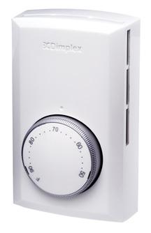 Dimplex Ts521w Single Pole Line Voltage Thermostat