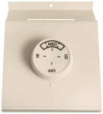 Qmark TA2AW Double Pole Thermostat - For 2500 / QMKC Series Heaters - Rating: 22 amp, 120 - 277 volts - Navajo White