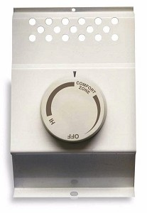 Cadet BTF2W Baseboard Heater Thermostat - Double Pole - White - Fits Cadet 120 / 208 / 240 volt baseboard heaters