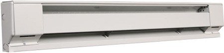 "Qmark QMKC2514W Commercial Baseboard Heater - 48"" Long - 120 Volt - 1000 Watts - 10 Year Warranty"