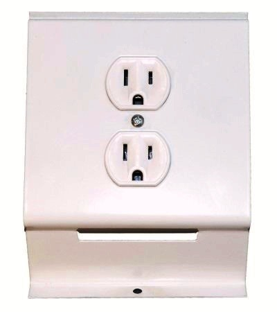 Qmark RA1W 120 Volt Receptacle - for 2500 Series Baseboard Heaters